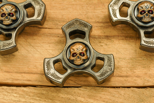 Steel Flame: Warrior Sledge Tri Spin Royal Bronze 3D warrior slug w/ red eyes