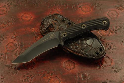 RMJ Tactical: Peregrine w/ Hybrid leather / kydex sheath - Jonathan Carmack Design