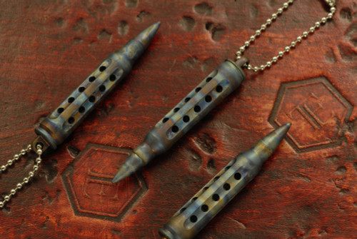 SK Knives 223 Titanium Dangler Scorched Battle