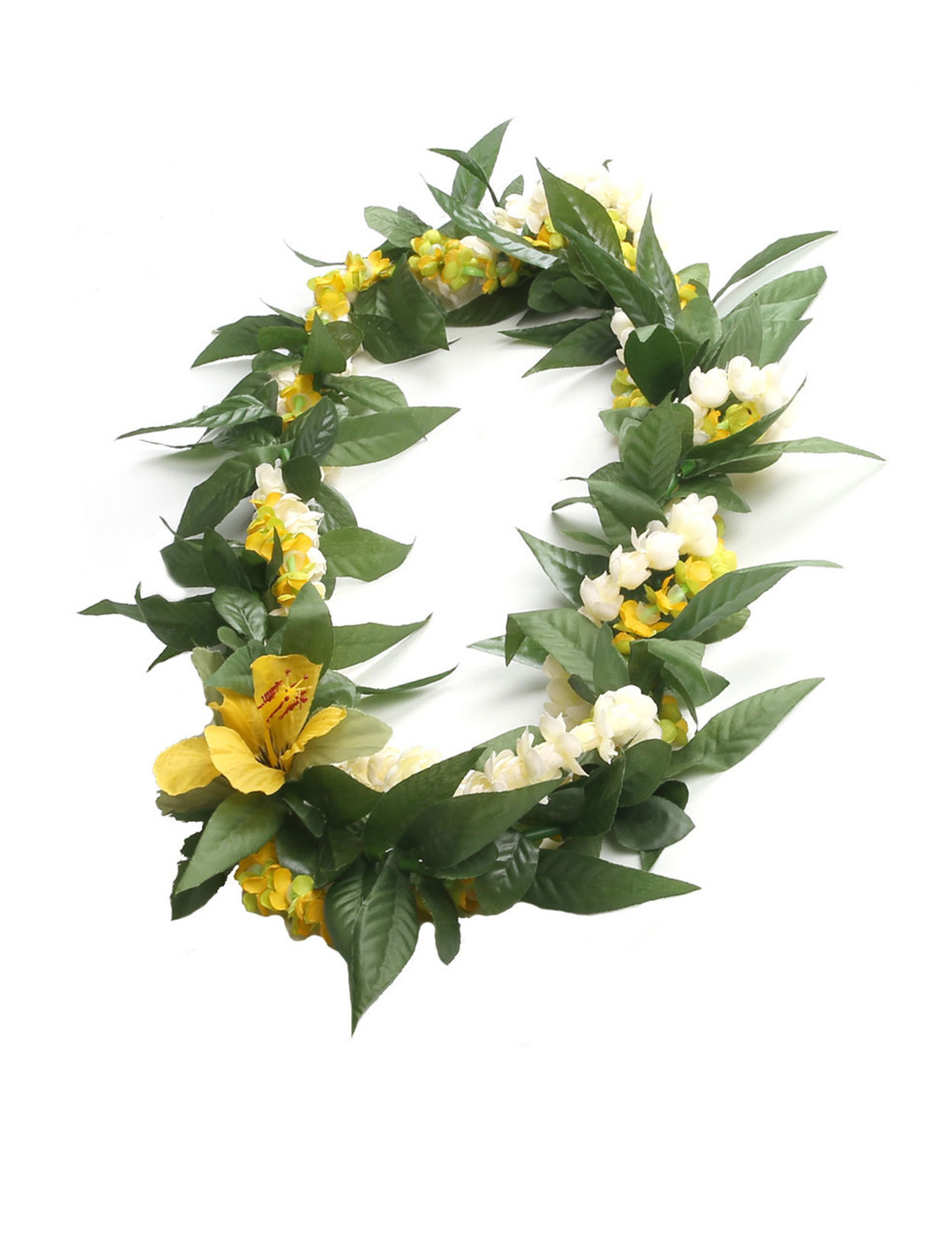 Silk pakalana pikake maile twist wrap lei green yellow hawaiian silk pakalana pikake maile twist wrap lei green yellow silk flower accent twisted wrap lei izmirmasajfo
