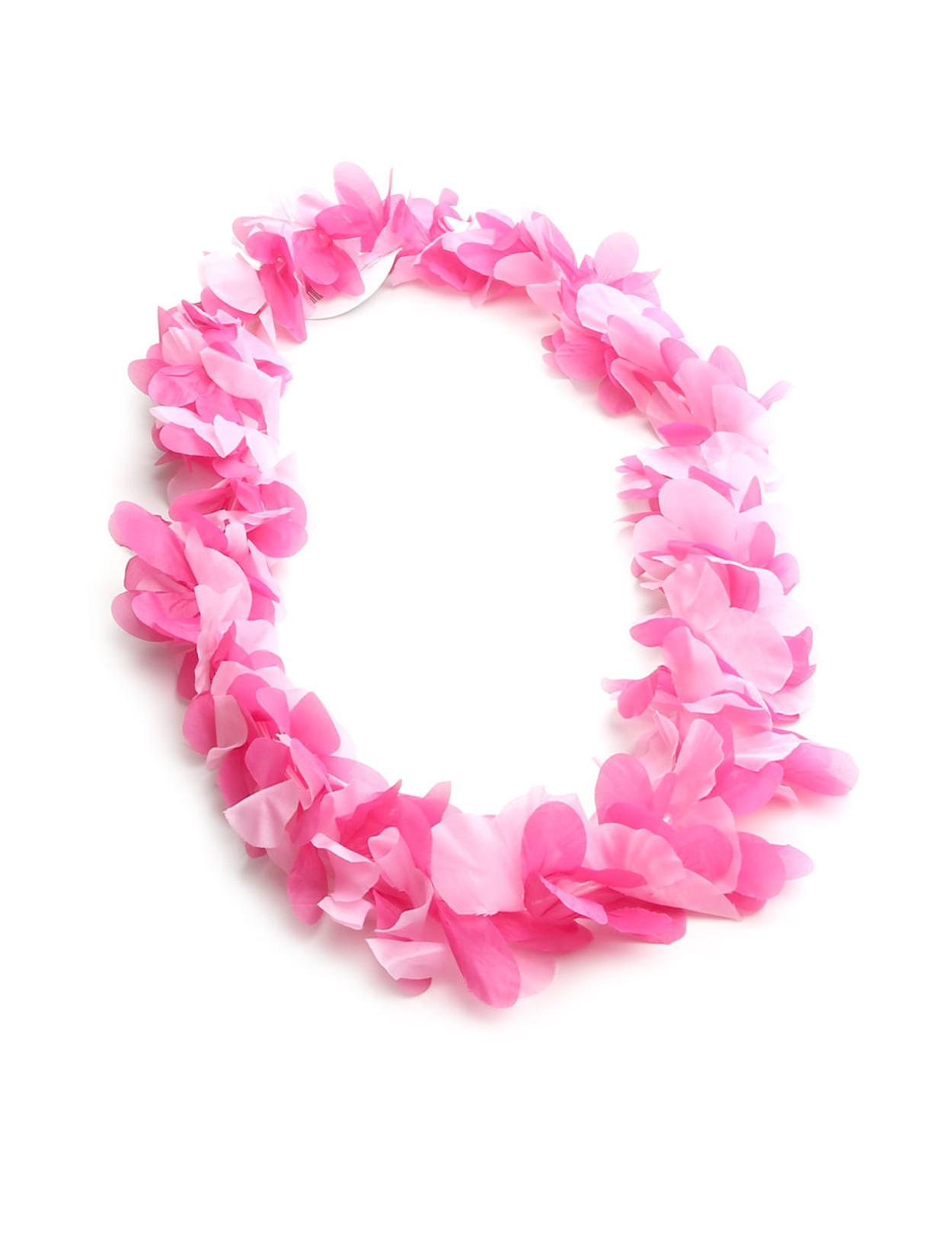 Pink Party Hawaiian Silk Fun Lei Hawaiian Wedding Place