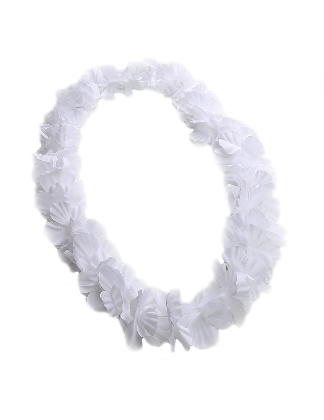 White party fun flower lei hawaiian wedding place white party fun flower lei durable long lasting silk unscented hypoallergenic color mightylinksfo