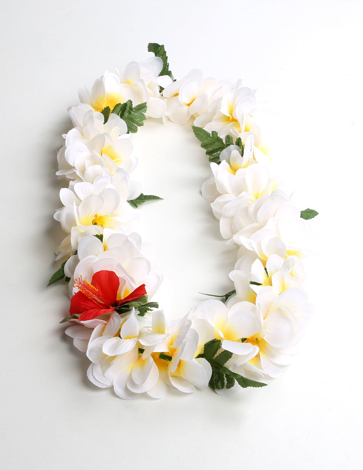 Natural color plumeria flower silk lei hawaiian wedding place natural color plumeria flower silk lei mightylinksfo