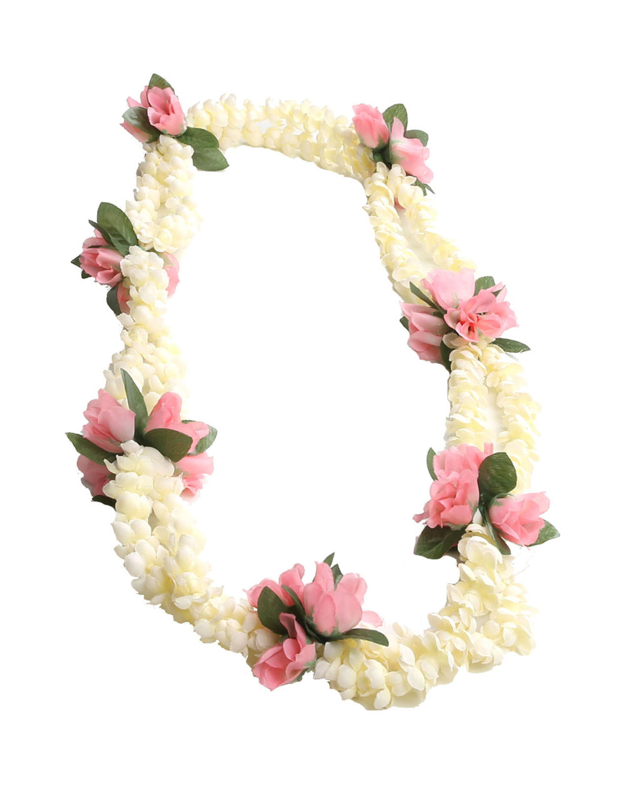 Double pikake rope and pink rosebuds silk lei hawaiian wedding place double pikake rope and pink rosebuds silk lei small silk roses accent durable long mightylinksfo