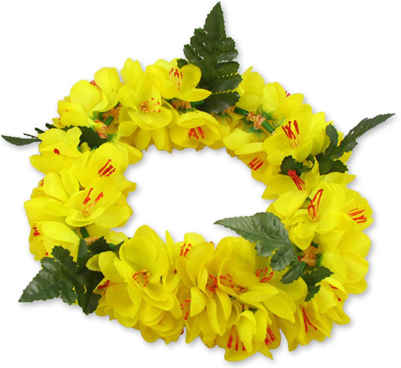 Yellow silk shell ginger flower headband hawaiian wedding place yellow silk shell ginger flower headband unscented silk flowers hypoallergenic durable long lasting mightylinksfo