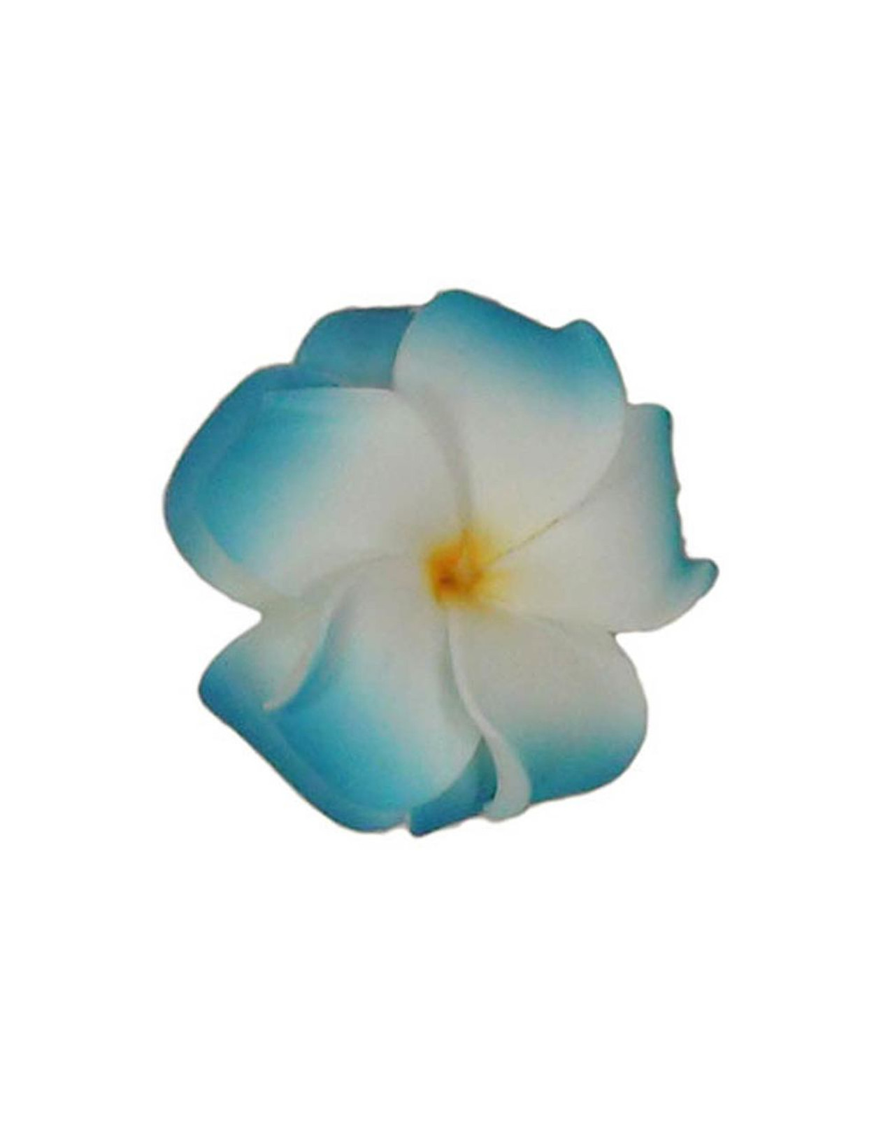Large double plumeria flower white blue hair clip hawaiian wedding our hawaiian foam flowers accessories are the hottest fashion statement today they are stylish and mightylinksfo
