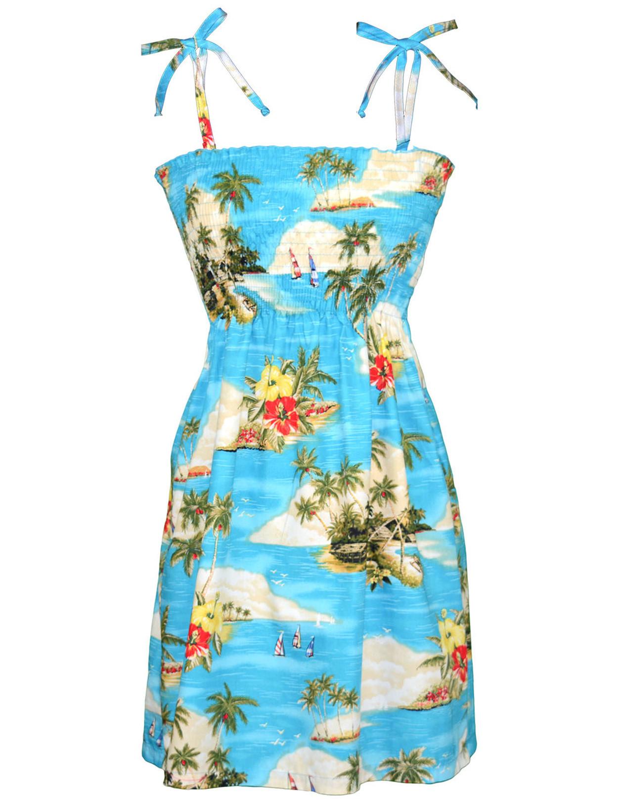 Aloha Resort Smock Island Dress - Hawaiian Wedding Place