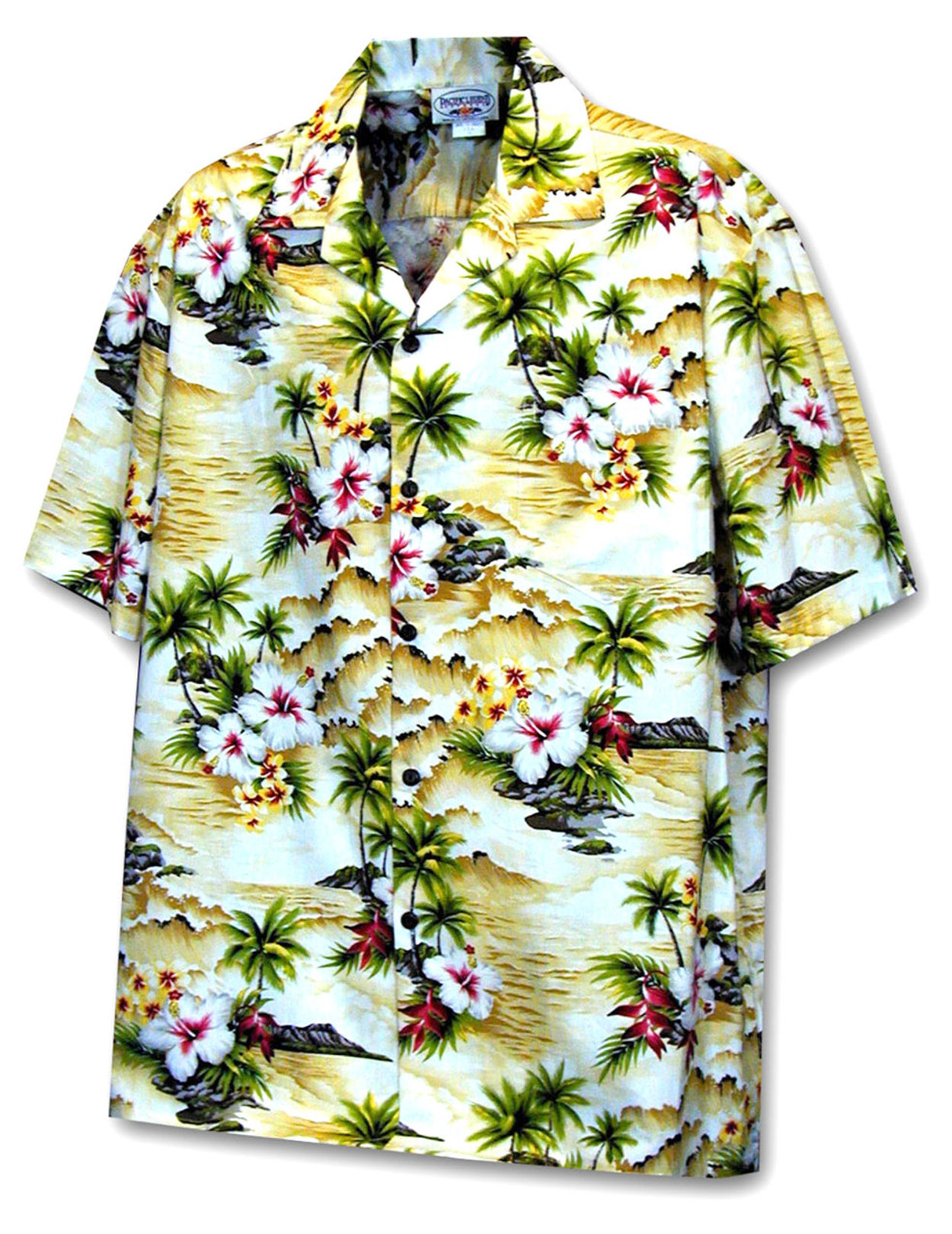 Hookipa Hibiscus Flower Hawaii Mens Shirt Hawaiian Wedding Place