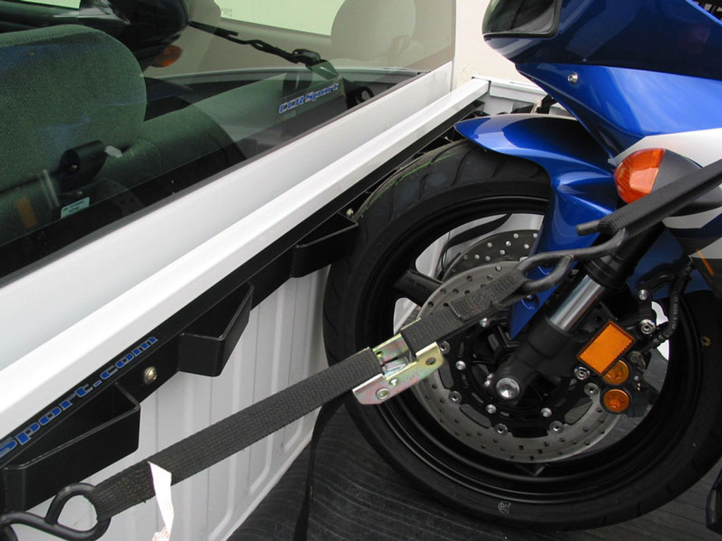 The Bed Buddy Motorcycle Tie Down Truck Rack isn't just for dirt bikes as you can see here. You can transport anything from bicycles to full size cruisers and everything in between.