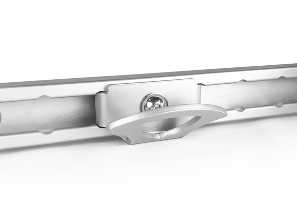 The CCR Sport Nissan Utili-track Tie Down Hood attaches to the Utili-track with a quick turn of the mounting bolt.