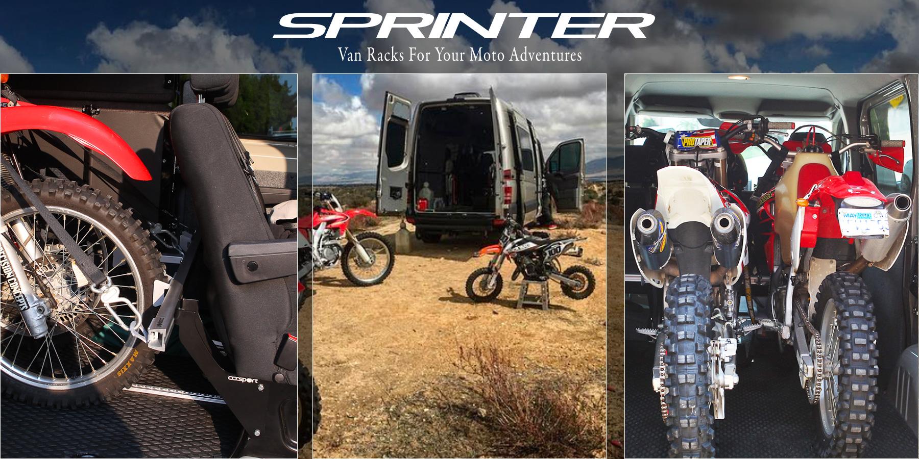 Sprinter Van tie down racks