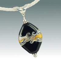 Black & Gold Swirl Pendant