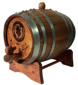 2L Display Barrel (stained and branded)