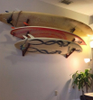 beautiful surfboard wall rack