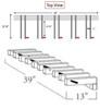 locking snowboard wall rack dimensions