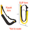 Customizable SUP and Kayak Freestanding Rack | Outdoor Storage for Up to 6 Kayaks & SUPs