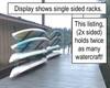 stainless steel dock rack for kayaks