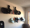 best way to hang snowboards