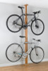stylish wooden apartment bike rack - oak