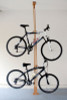 pressure mounted bicycle storage rack