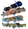 ski and snowboard wall storage rack
