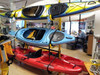 3 boats in suspenz freestanding rack