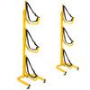 suspenz jay freestanding rack holding three kayaks