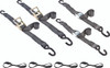 """2"""" wide heavy duty ratchet tie down straps and cam buckle kit with loops"""