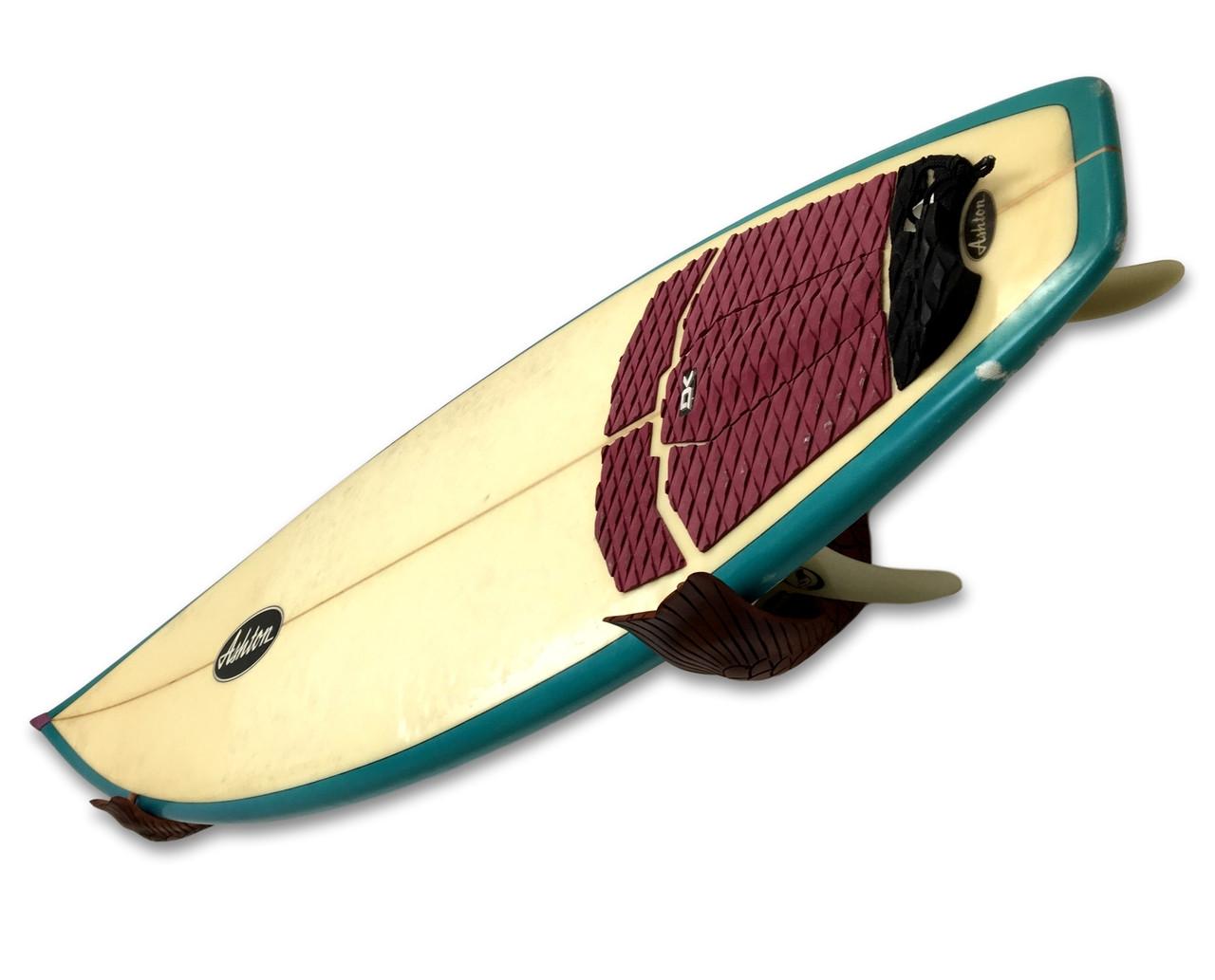 Handcrafted Wood Mermaid Tail   Surfboard Wall Display Rack ...