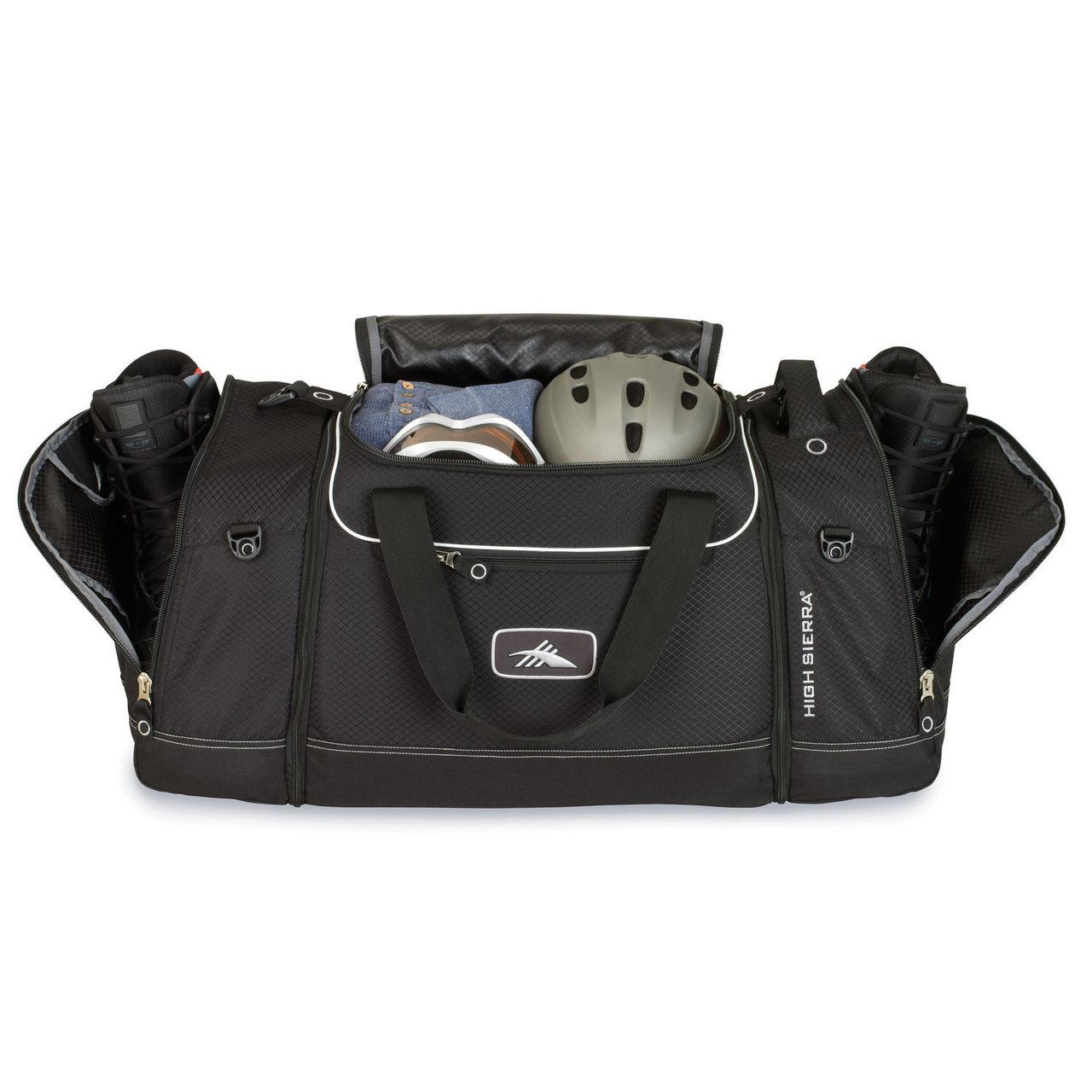 4-in-1 cargo duffel for snowboard gear