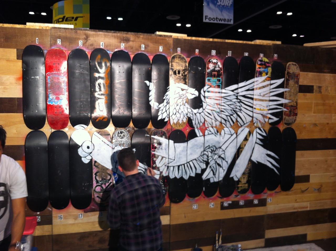 Skateboard Art Bundle 5 Blank Decks And Deck Displays