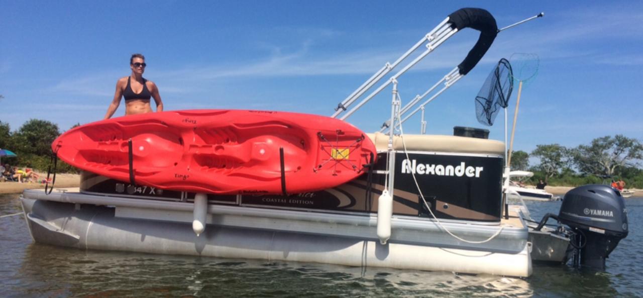 Kayak Roof Carrier >> Kayak Rack for Pontoon Boats | Aluminum - StoreYourBoard.com