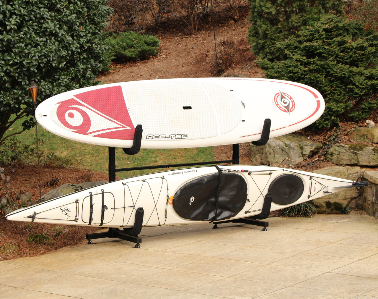 Kayak And Sup Freestanding Storage Rack Indoor And Outdoor