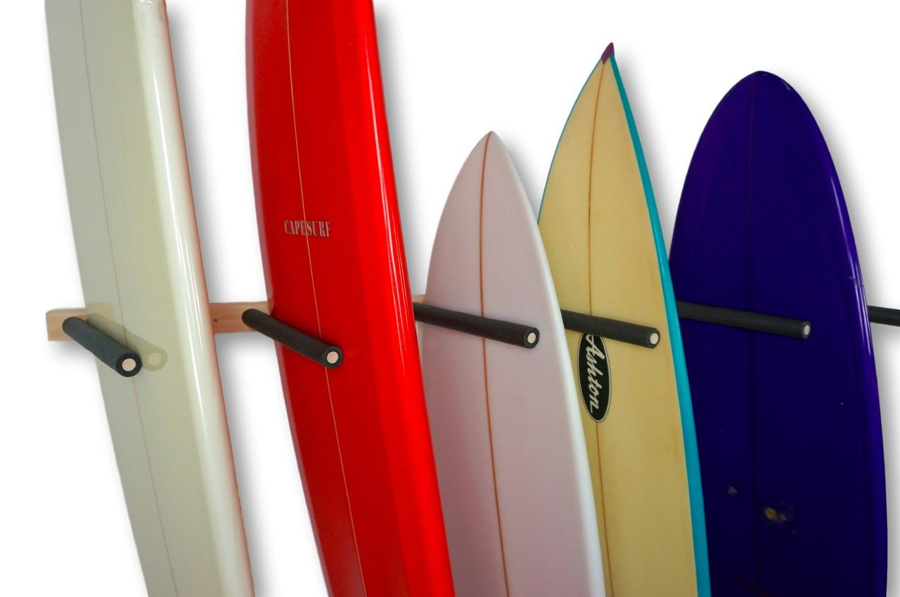 Vertical Surfboard Wall Rack 3 6 Or 9 Wood Surf Rack