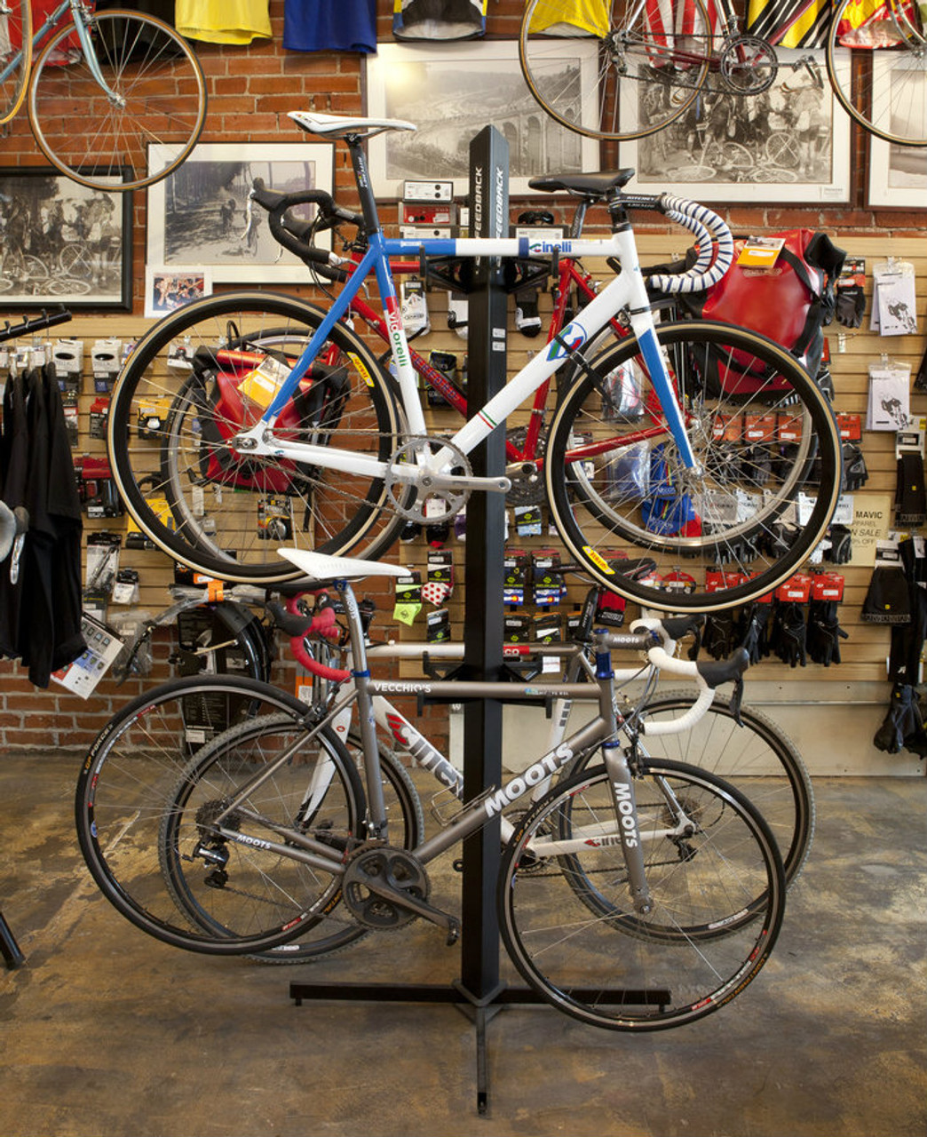 retail bike freestanding display rack