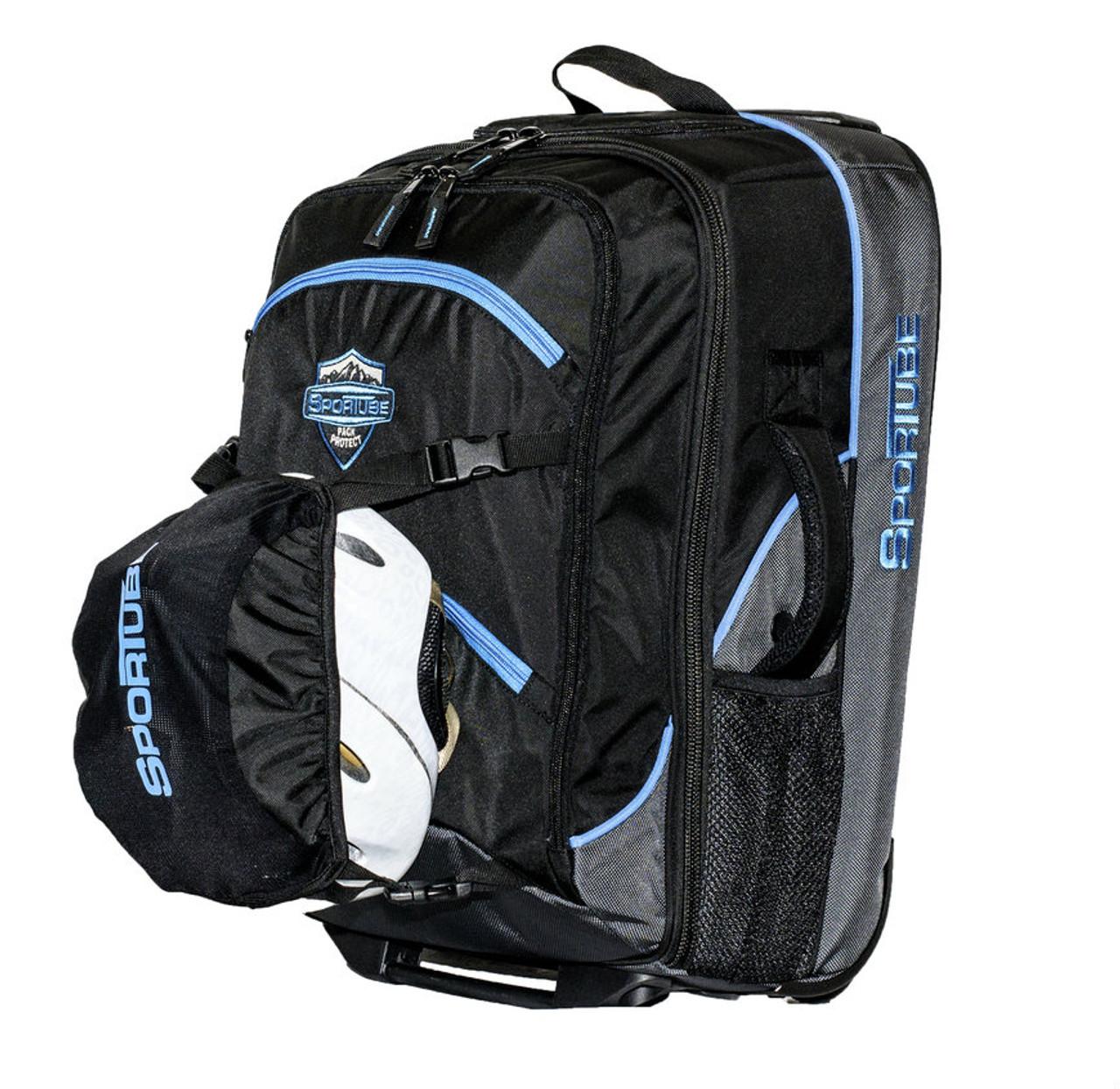ski boot and gear bag