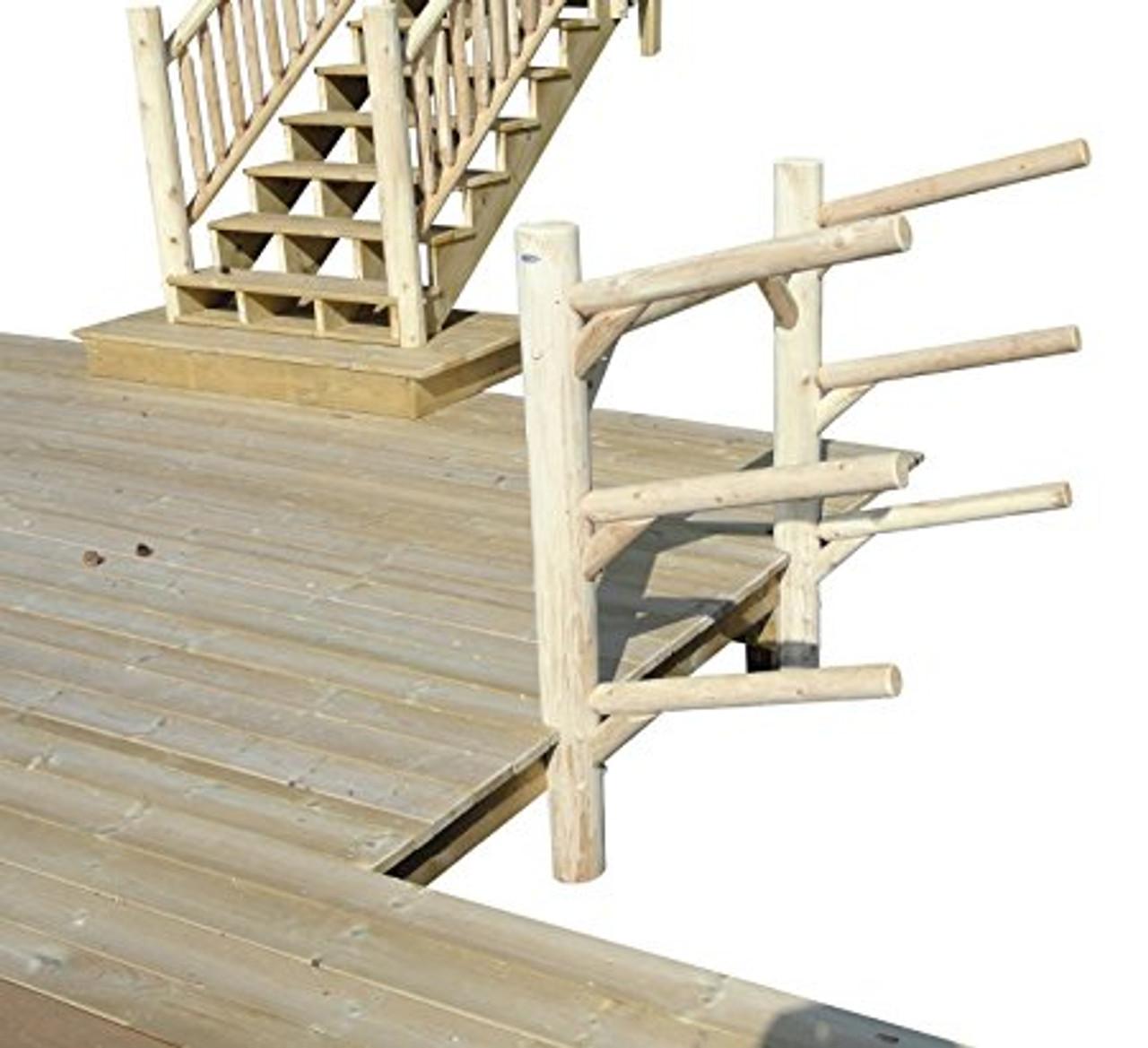 log kayak rack