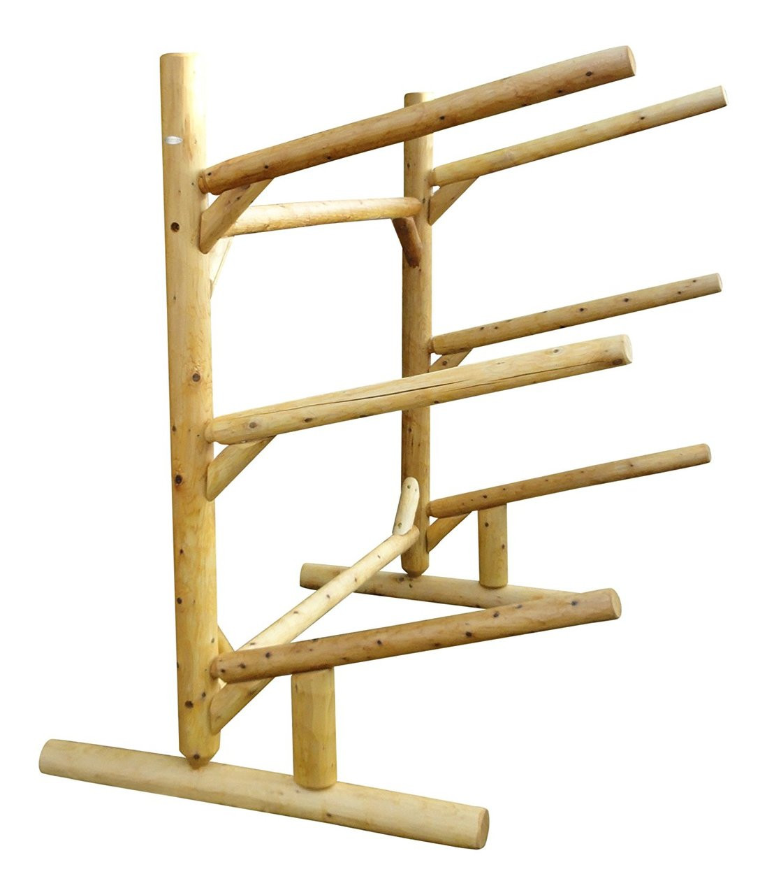 Kayak Sup And Canoe One Sided Log Rack Fits 2 Or 3