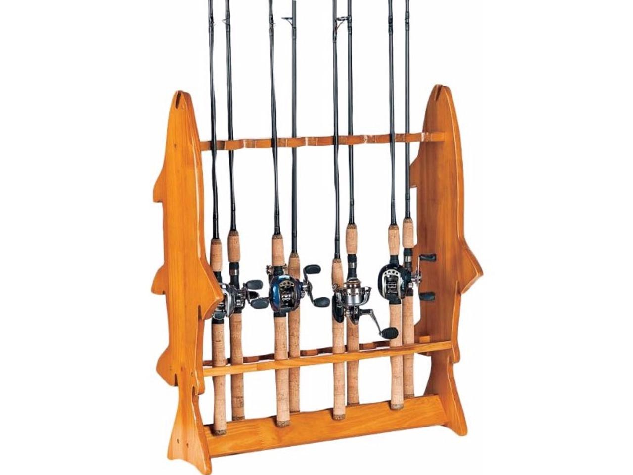 floor fishing rod rack