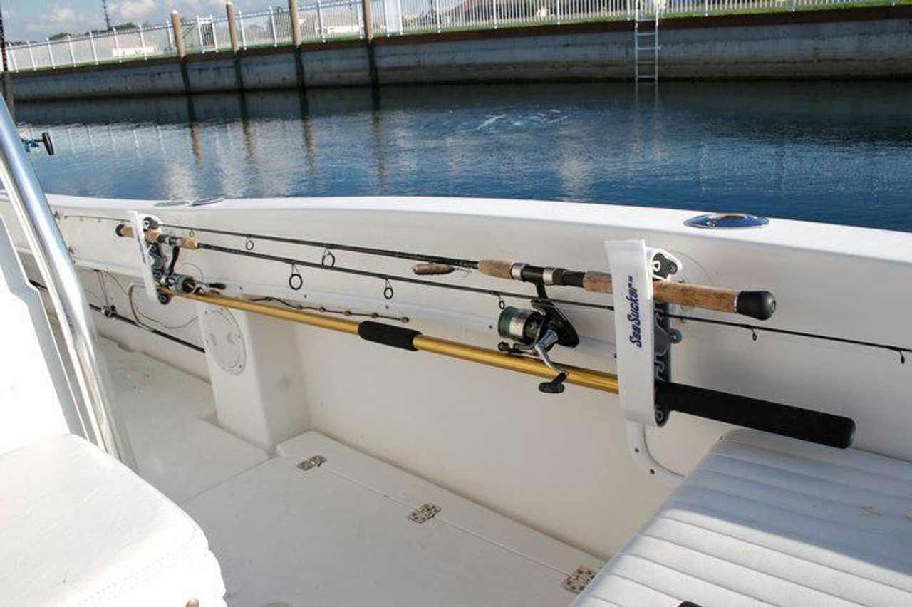 Horizontal Suction Mount Rod Holder | Fits 4 Rods