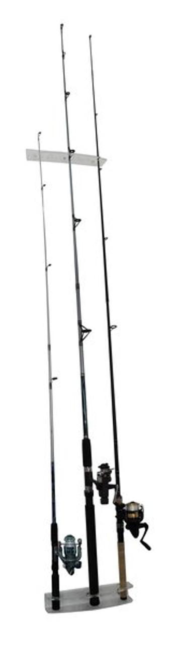 Clear Vertical Fishing Rod Rack | Acrylic Wall Display