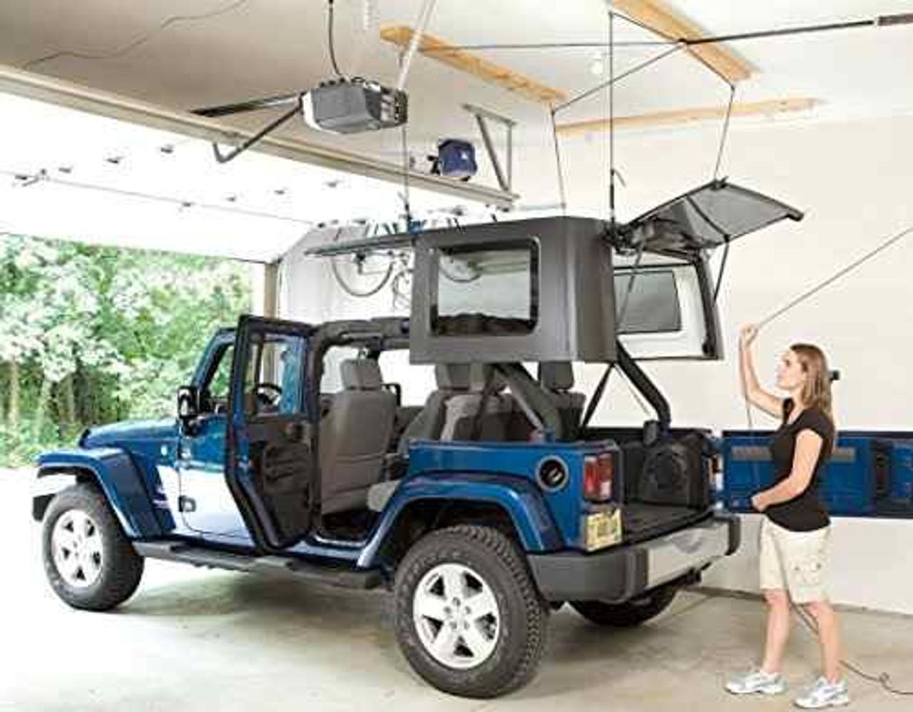 Jeep Hard Top Ceiling Hoist   4-Point Garage Lift Storage System