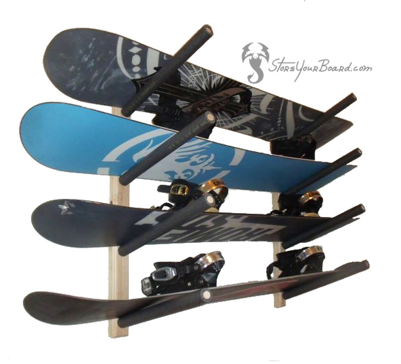 Snowboard Garage Rack 4 Boards Storeyourboard Com