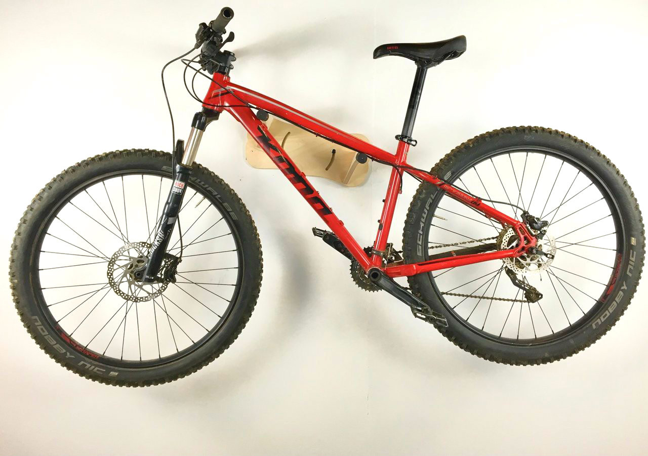 Adjustable Bike Wall Rack | Mountain and Road Bike | Birch Wood