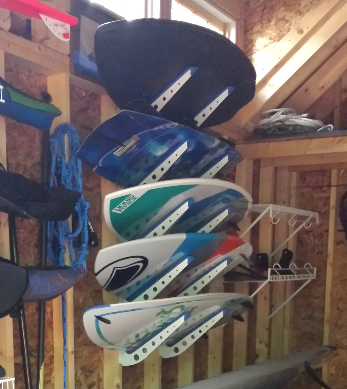 home wall storage rack for wakesurf