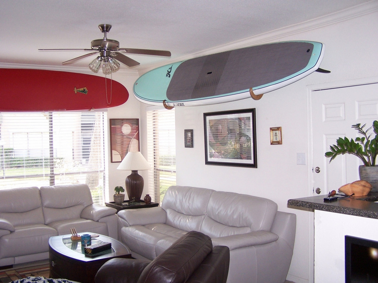 home storage of stand up paddle board SUP
