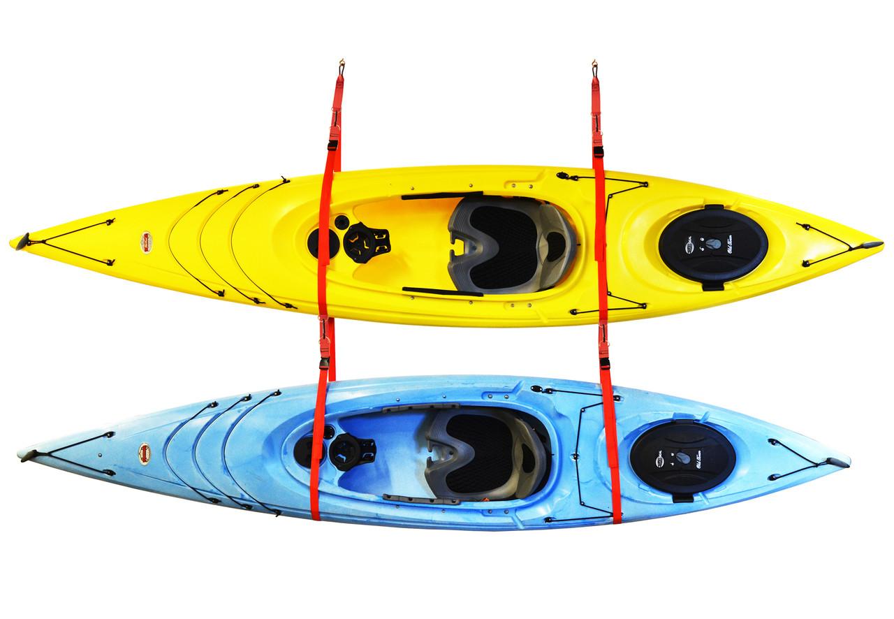 Hanging Strap Kayak Rack Fits 2 Kayaks Storeyourboard Com