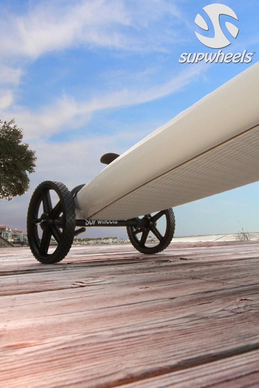 wheels underneath a SUP