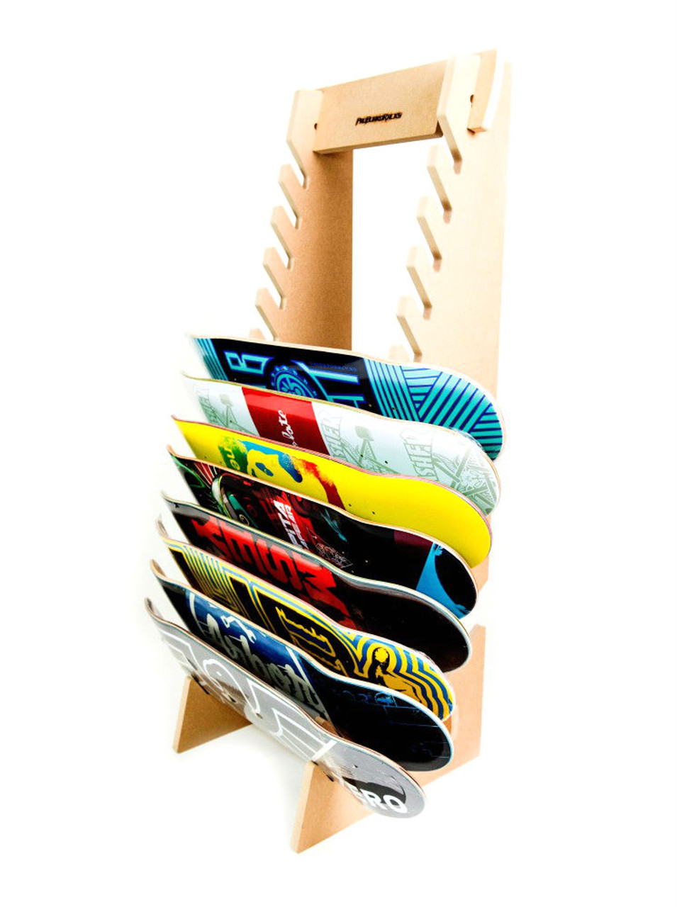 freestanding skateboard rack