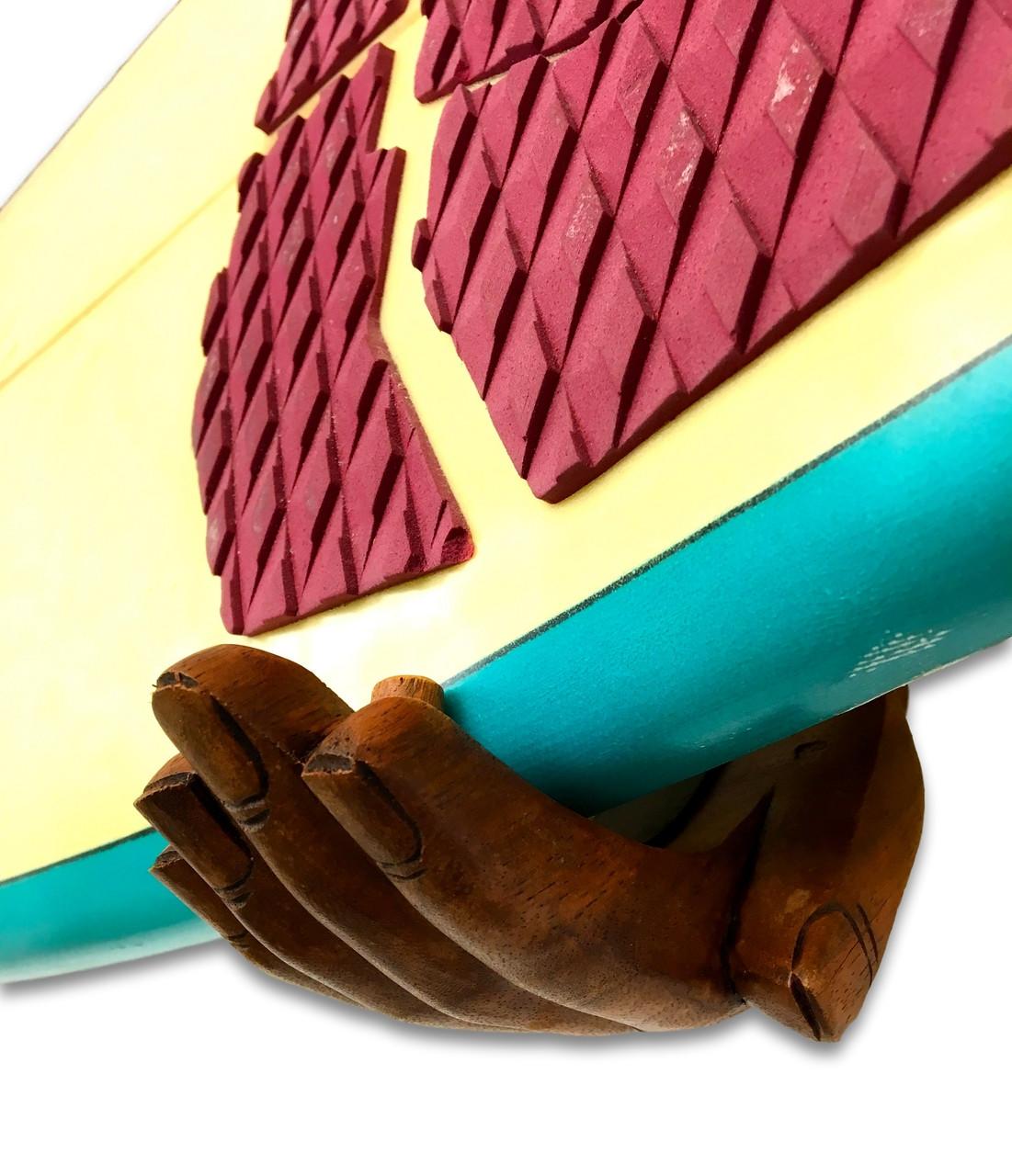 Handcrafted Wood Hands   Surfboard Wall Display Rack